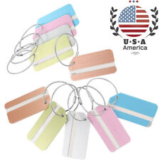5pcs Travel Luggage Tag Baggage Label Suitcase Name Address ID Bag Tags US Ship