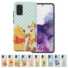 Winnie the Pooh Stripe Bumper Cover Galaxy S20 Ultra S10 S9 Note20 Note10 Case