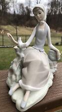 New ListingLladro Figurine Girl Shepherdess With Dove Bird #4660 Matte Excellent Condition
