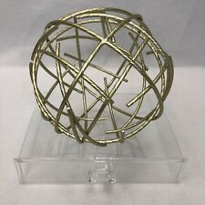 Wrought Iron Sphere - Flat Gold - 7""