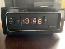 vintage Westclox flip alarm clock