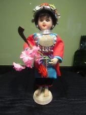 Preowned Handmade Traditional Costume Doll Hmong/Hill Tribe Bangkok Thailand VGC