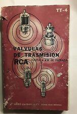 Book In Spanish : Valvulas De Transmision RCA Hasty 4 KW De Estrada TT-4