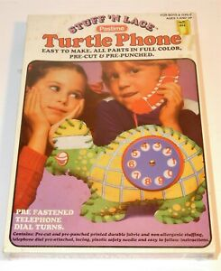 VTG 80's Pastime Stuff 'N Lace Turtle Clock Craft Learning Educational Sealed