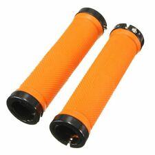 1 Pair Bicycle Handle Grip Mtb Bmx Bike Handlebar Orange Rubber