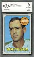 Luis Aparicio Card 1969 Topps #75 Chicago White Sox BGS BCCG 9