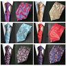 Hot Sale Men 8cm Wedding Neck Tie Paisley Floral Jacquard Silk Necktie HZTIE0041