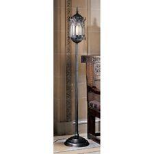 "68.5"" Medieval antique style gothic castle floor lamp architectural lantren"