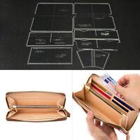 7 Stück / Set klar Leder Muster Acryl Vorlagen für Leder Geldbörse