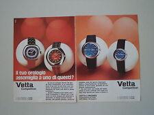advertising Pubblicità 1972 OROLOGI VETTA COMPETITION