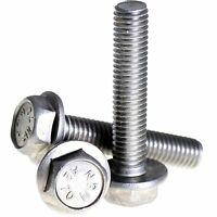 5mm M5 A2 STAINLESS STEEL FLANGED HEX HEAD BOLTS FLANGE HEXAGON SCREWS DIN 6921