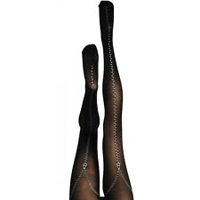 SILKY SIGNATURE ZIP UP PRINTED TIGHTS - Ladies Funky Signature Fashion Silky New