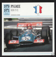 1970-1971 Pygmee MDB 15 F2 Patrick Depailler Car Photo Spec Sheet French Card