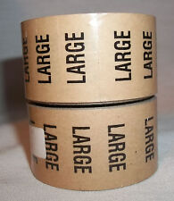"""2 Rolls Large 5"""" long Size stickers clear peel stick 125 stickers per Roll"""