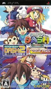 PSP RockMan Dash Rockman Dash 2 Value Pack Game Japan