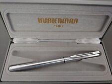 waterman graduate vintage fountain pen chrome trim + box penna stilografica