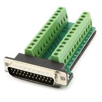 1X(DB25 25-Pin Stecker Anschlussplatine RS232 Seriell zu Klemme Signal-Modu L9X2