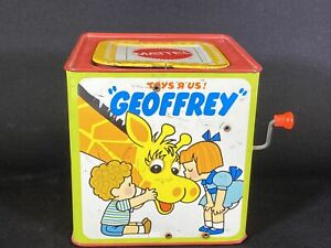 Geoffrey Giraffe Jack in the Box Tin Metal Toys R Us Mattel