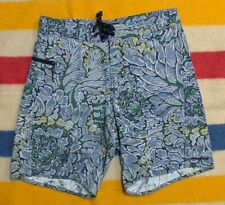 Patagonia Multicolor Abstract Floral Beach Shorts w/Sidewind Pocket 32