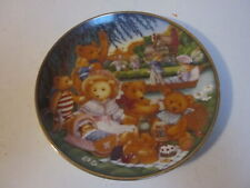 1991 Franklin Mint Limited Edition Collector Plate Y5572 A Teddy Bear Picnic