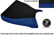 R BLUE BLACK VINYL CUSTOM FOR KAWASAKI ZXR 750 93-95 (L M) FRONT SEAT COVER ONLY