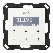 Gira Einsatz-Radio reinwei�Ÿ glänzend Basiselement Unterputz - 228403