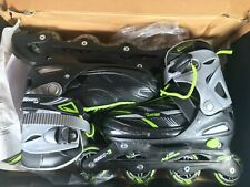 Chicago Inline Skates - Black Gray 70mm 82a Wheels Abec3 Bearings Youth Size 5-8