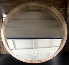LARGE Modern Rustic Chunky Natural Round Wall Mirror