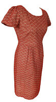 Somerset By Alice Temperley Red Wiggle Pencil Dress Broderie Crochet Size 12