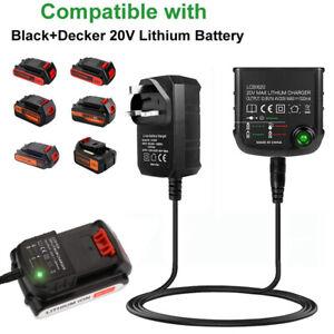 Replacement Lithium-Ion Battery Charger for Black & Decker LBXR20 14.4V 18V 20V