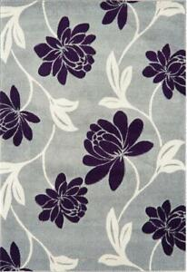 Asiatic Vogue Floral Grey Purple Beige Area Rug, 120 x 170 cm