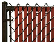 Chain Link Redwood Double Wall Tube™Privacy Slat For 10' High Fence Bottom Lock