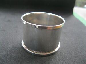 Sterling Silver NAPKIN RING. Hallmarked Birmingham 1933 George V serviette