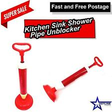 Kitchen Sink Shower Pipe Unblocker |  Drain Cleaner Plunger New Suction-Plumbing