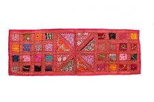 Table Top Runner Wall Hanging Vintage Embroidered Patchwork Tapestry