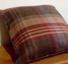 2 Mulberry Cushion covers Ancient Tartan Velvet Red Grey Green Gold John Lewis