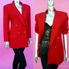 DALIA blazer Jacket size UK 14 beautiful elegant classic polyester red gold
