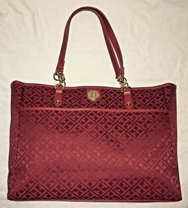 NEW TOMMY HILFIGER TOTE, RED COLOR, MSRP $108.00