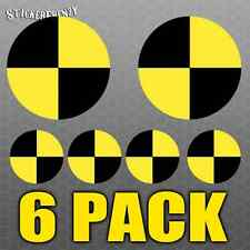 6 Pack Crash Test Dummy Stickers LAMINATED Funny Vinyl Decal Car Truck Window