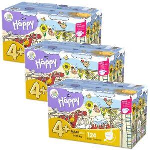 Windeln bella baby Happy Box Gr.4+ Maxi Plus 9-20kg Sparpack 124 - 372 Stück