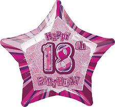 """18TH BIRTHDAY CELEBRATIONS""    18th Glitz Pink 20"" Foil Balloon!"
