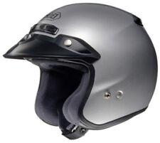 Caschi casco aperti per la guida di veicoli argento moto