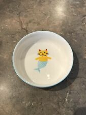 New Ceramic Feeding Bowl Food Water Dish Feeder for Cat Mermaid Design