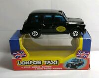 HENBRANDT LIMITED DIECAST BLACK LONDON TAXI - #D38 625 - BOXED
