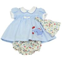Dress Ex Baby Boden Floral Farmyard 0-3 3-6 6-12 New Peter Pan New Mini Boden