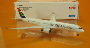 Herpa 534390 South African Airways Airbus A350-900 – ZS-SDF 1:500