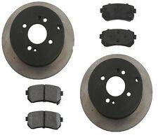 Rear Disc Brake Pads Rotors Kit OPparts For: Hyundai Accent 2006 - 2009 L4 1.6L