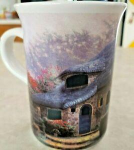 """Thomas Kinkade Mug """"Lilac Cottage"""" 4 1/8"""" Tall and 8 Oz.Capacity"""
