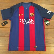 NIKE FC BARCELONE AEROSWIFT HOME MATCH  AUTHENTIC XL RAYE BLEU & ROUGE  Neuf