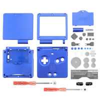 Solid Blue Housing Shell Buttons Replace for Nintendo Game Boy Advance SP GBA SP